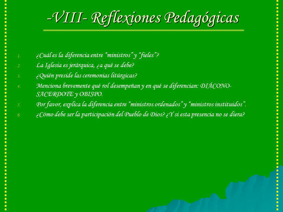 -VIII- Reflexiones Pedagógicas