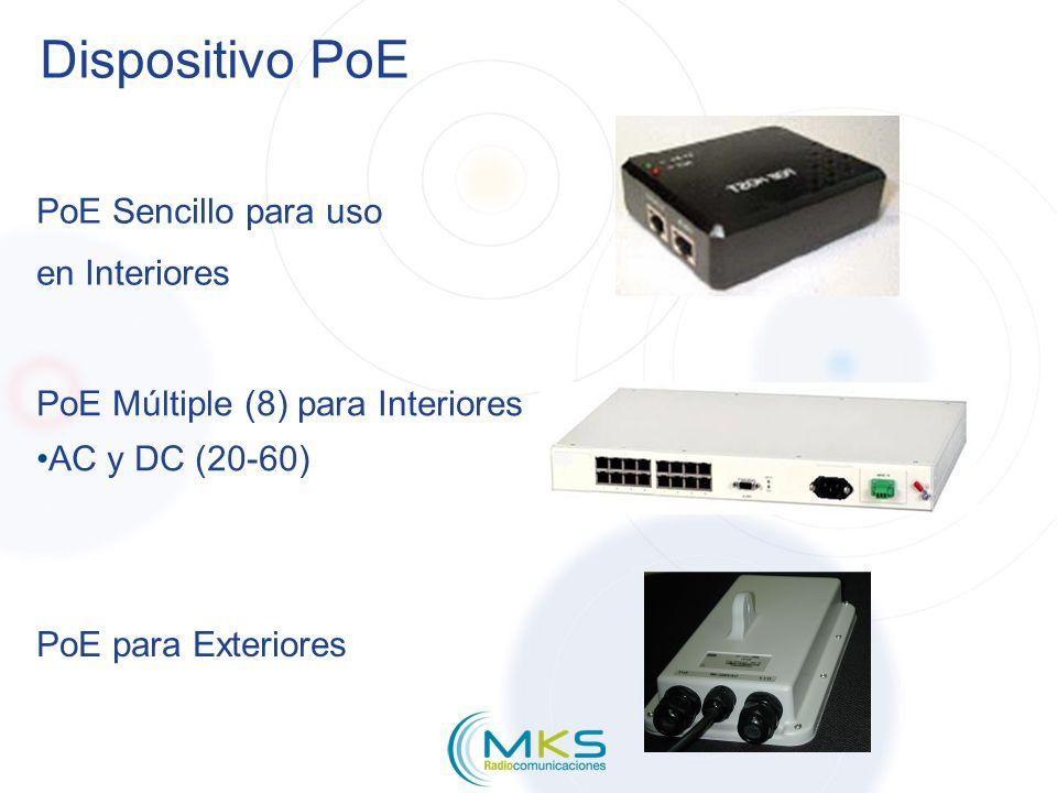 Dispositivo PoE PoE Sencillo para uso en Interiores