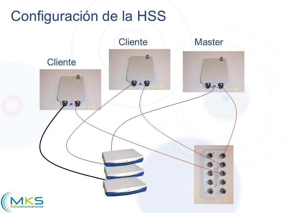 Configuración de la HSS