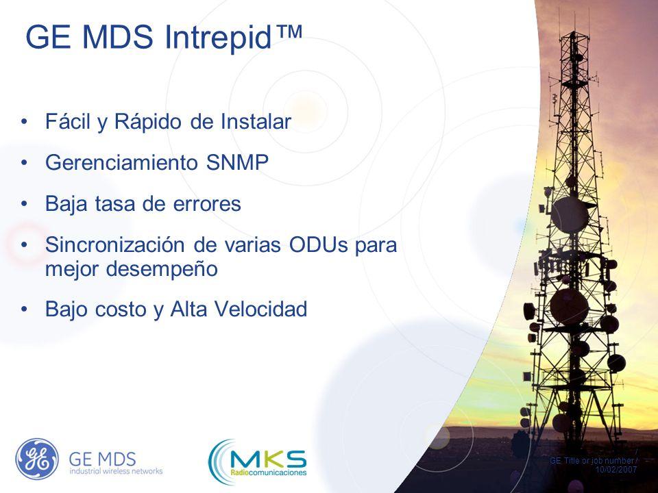 GE MDS Intrepid™ Fácil y Rápido de Instalar Gerenciamiento SNMP