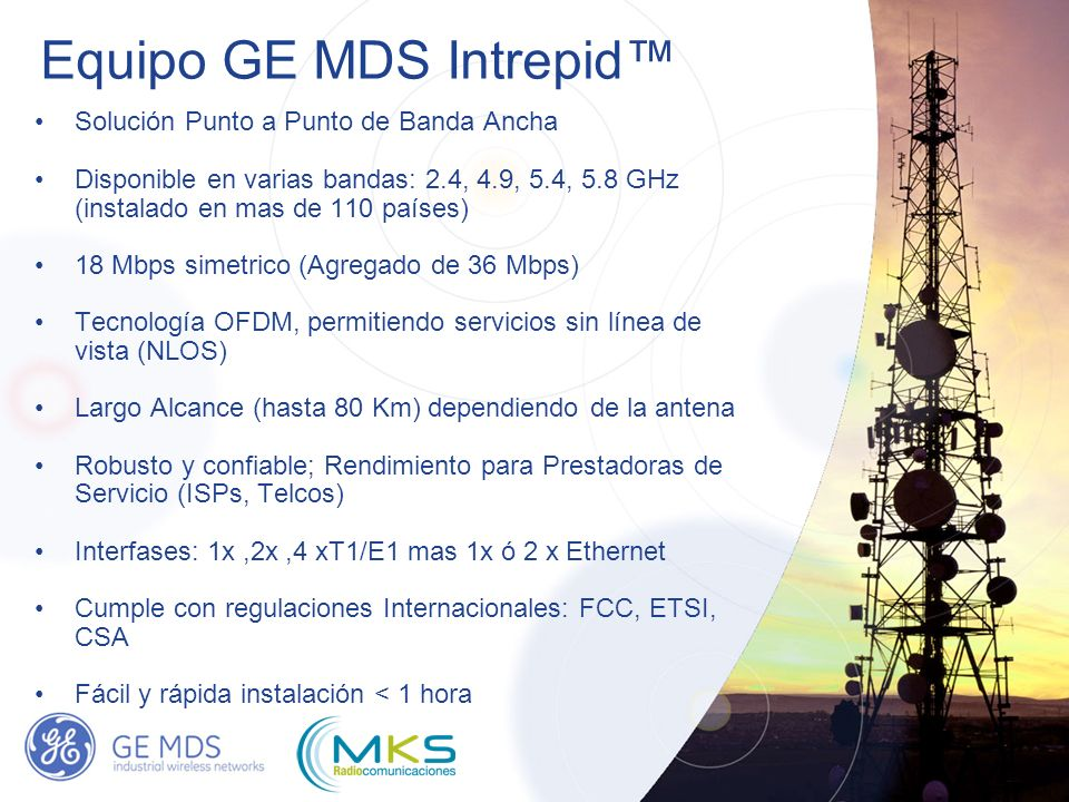 Equipo GE MDS Intrepid™
