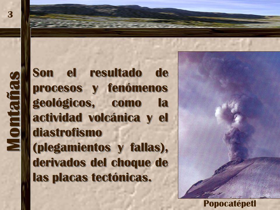 3 Popocatépetl. Montañas.