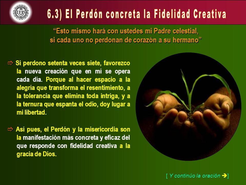 6.3) El Perdón concreta la Fidelidad Creativa
