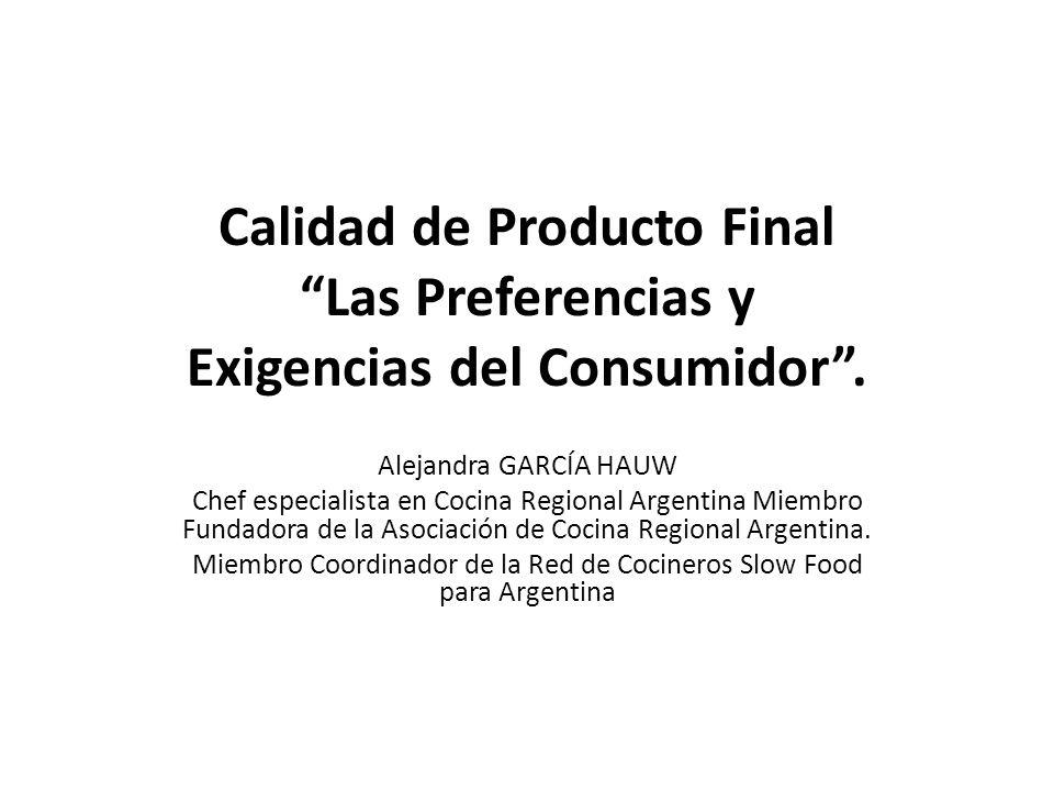 Miembro Coordinador de la Red de Cocineros Slow Food para Argentina