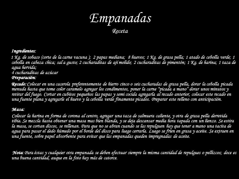 Empanadas Receta Ingredientes: