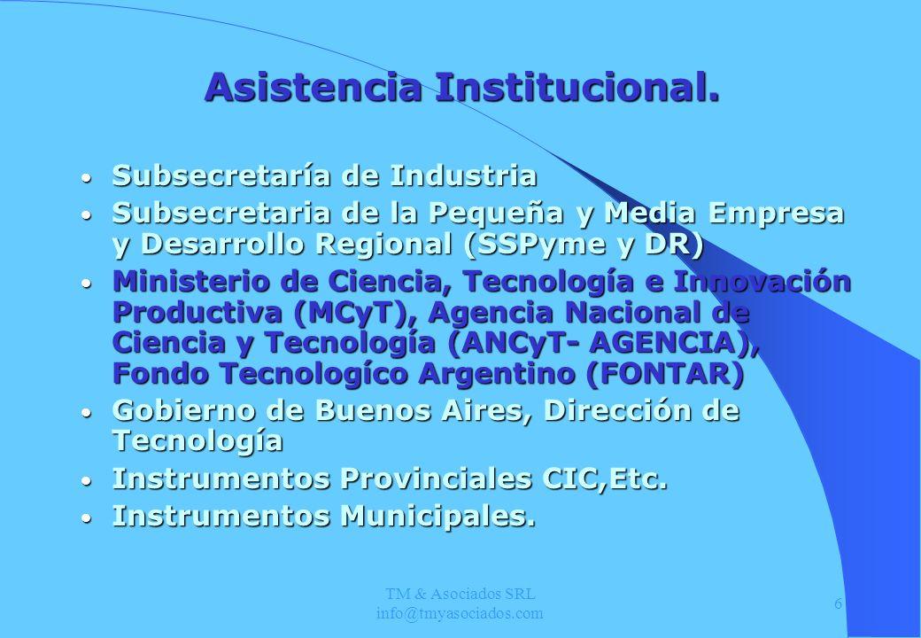 Asistencia Institucional.