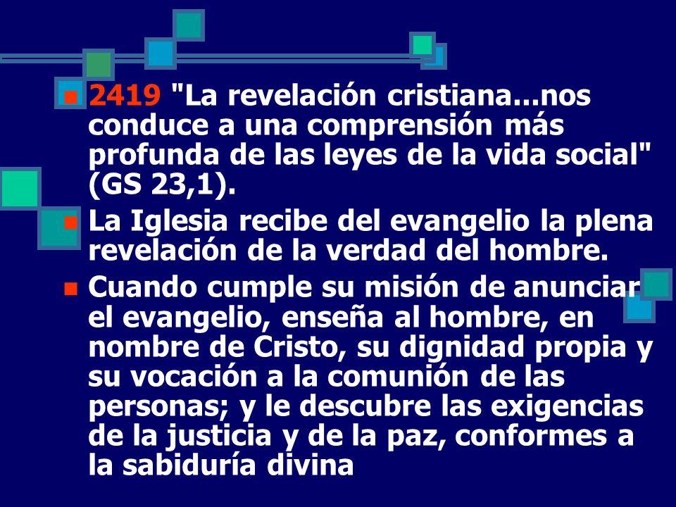 2419 La revelación cristiana
