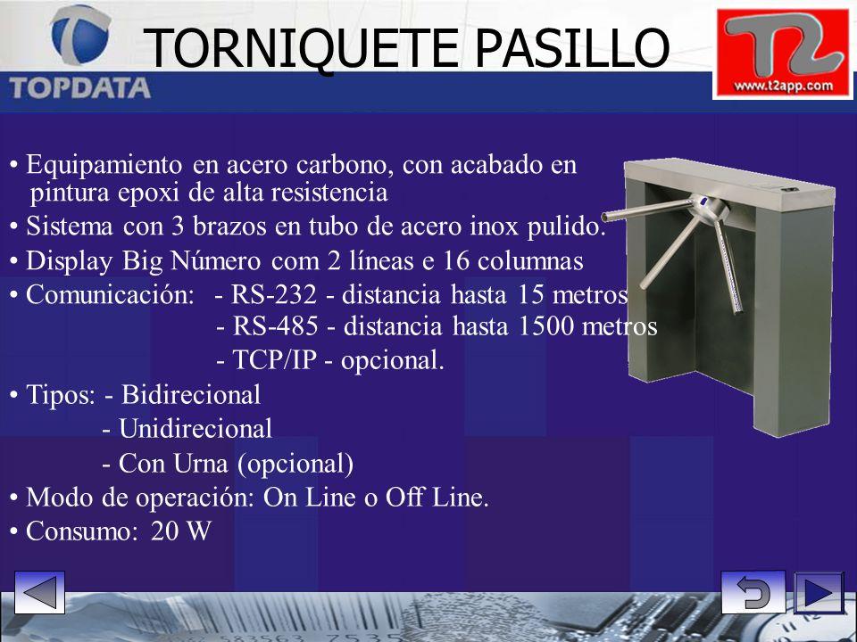 TORNIQUETE PASILLO • Equipamiento en acero carbono, con acabado en