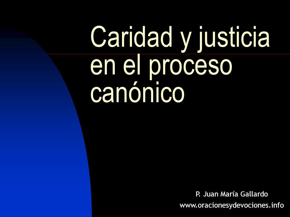 Caridad y justicia en el proceso canónico