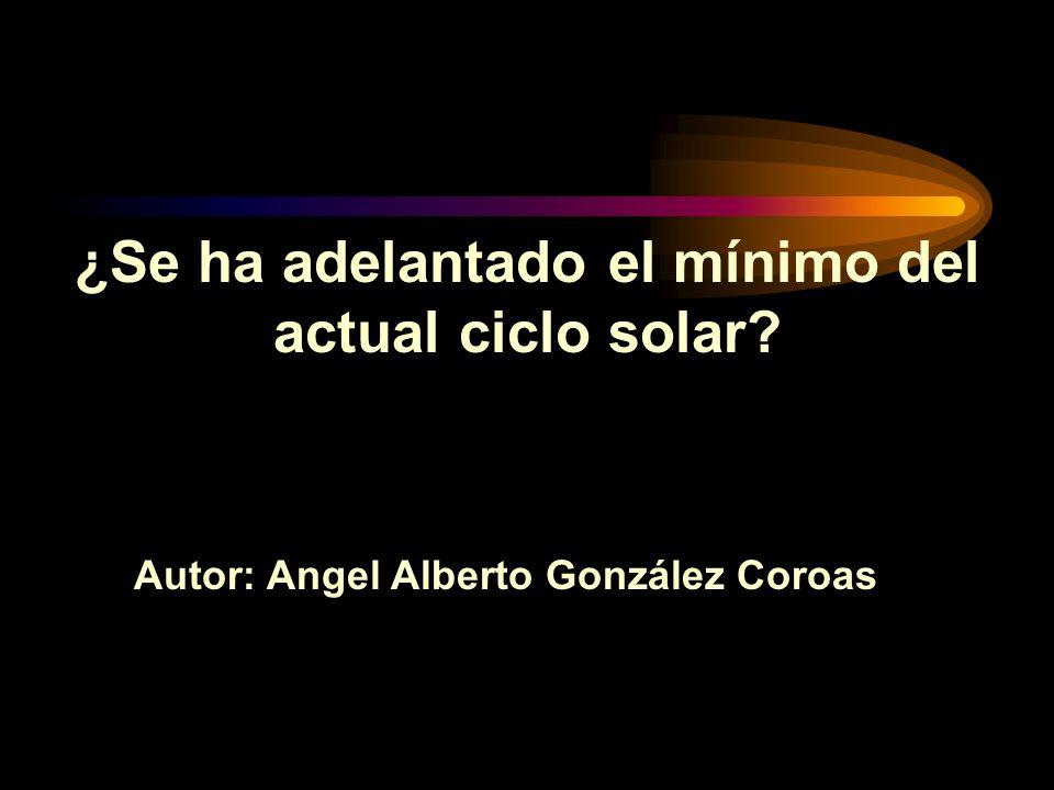 ¿Se ha adelantado el mínimo del actual ciclo solar
