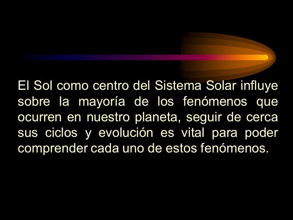 El Sol como centro del Sistema Solar influye sobre la mayoría de los fenómenos que ocurren en nuestro planeta, seguir de cerca sus ciclos y evolución es vital para poder comprender cada uno de estos fenómenos.