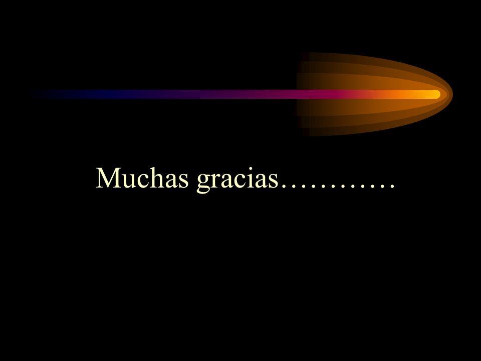 Muchas gracias…………