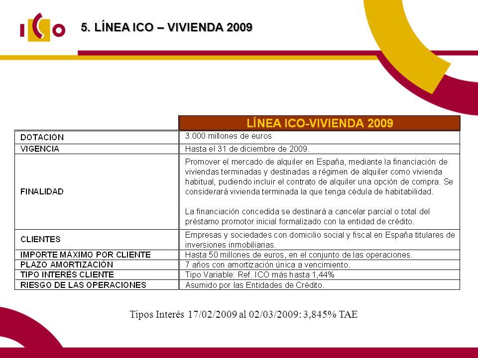 Tipos Interés 17/02/2009 al 02/03/2009: 3,845% TAE