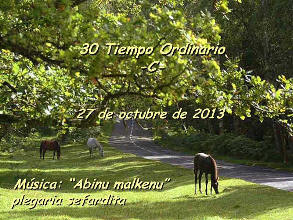 30 Tiempo Ordinario -C- 27 de octubre de 2013