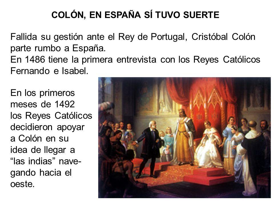 COLÓN, EN ESPAÑA SÍ TUVO SUERTE