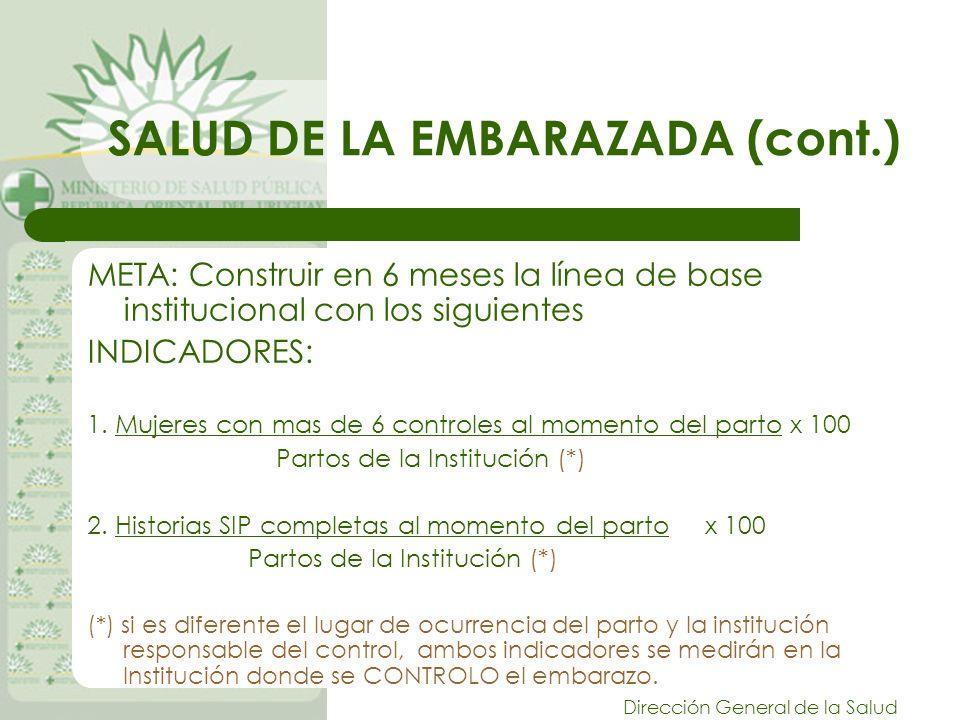 SALUD DE LA EMBARAZADA (cont.)