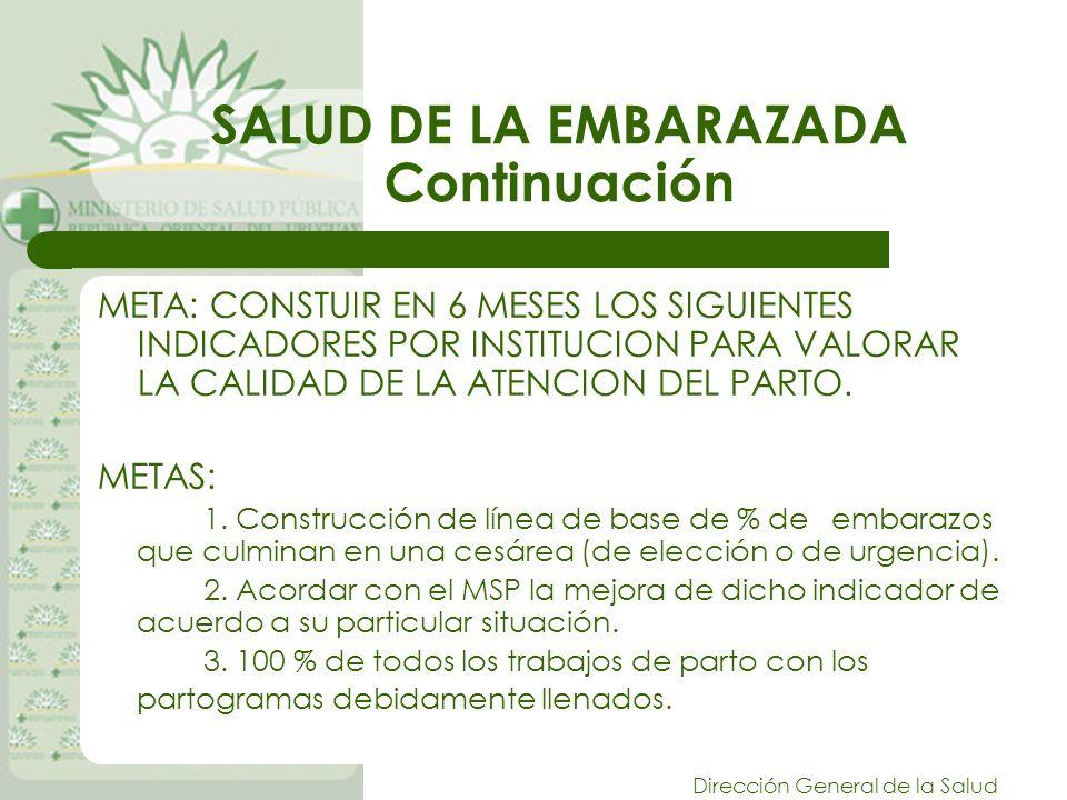 SALUD DE LA EMBARAZADA Continuación