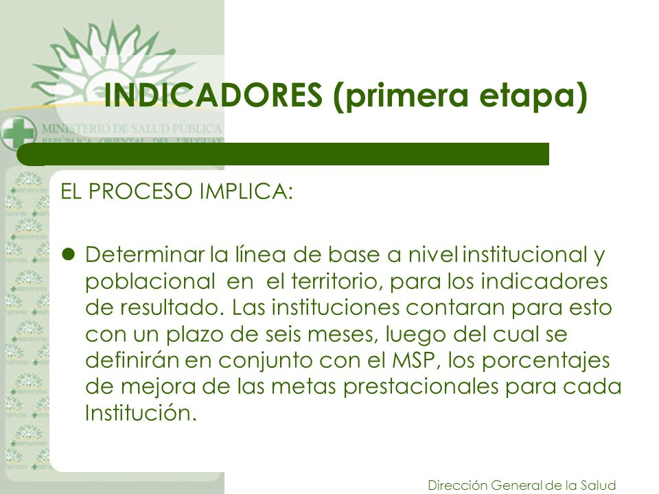 INDICADORES (primera etapa)
