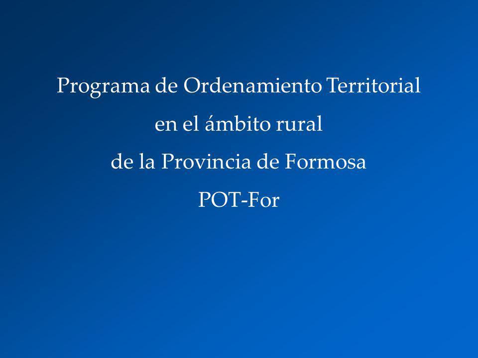 Programa de Ordenamiento Territorial en el ámbito rural