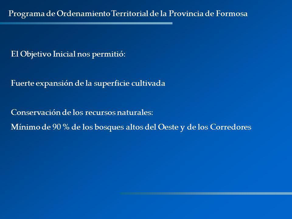 Programa de Ordenamiento Territorial de la Provincia de Formosa
