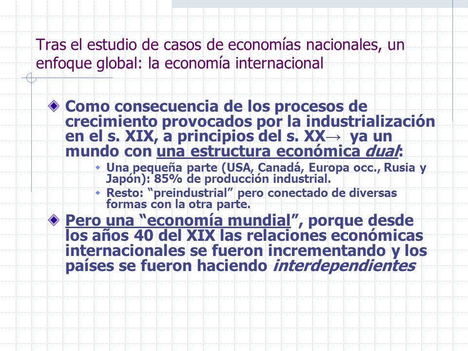 Tras el estudio de casos de economías nacionales, un enfoque global: la economía internacional