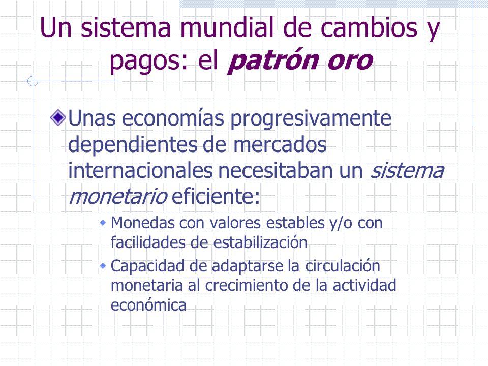 Un sistema mundial de cambios y pagos: el patrón oro