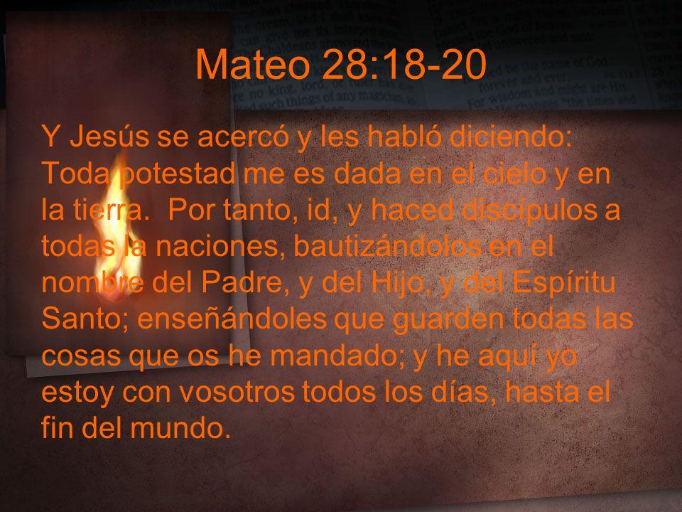 Mateo 28:18-20