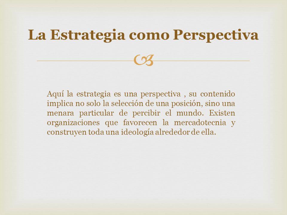 La Estrategia como Perspectiva