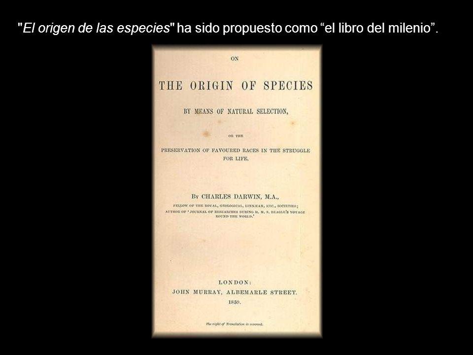 El origen de las especies ha sido propuesto como el libro del milenio .