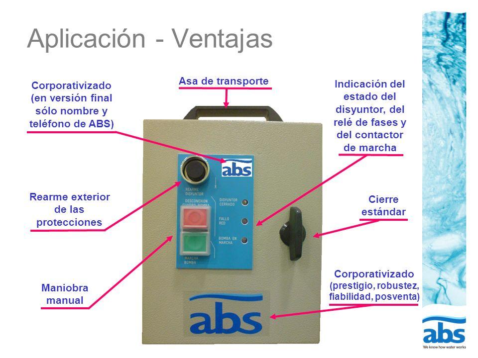 Aplicación - Ventajas Asa de transporte
