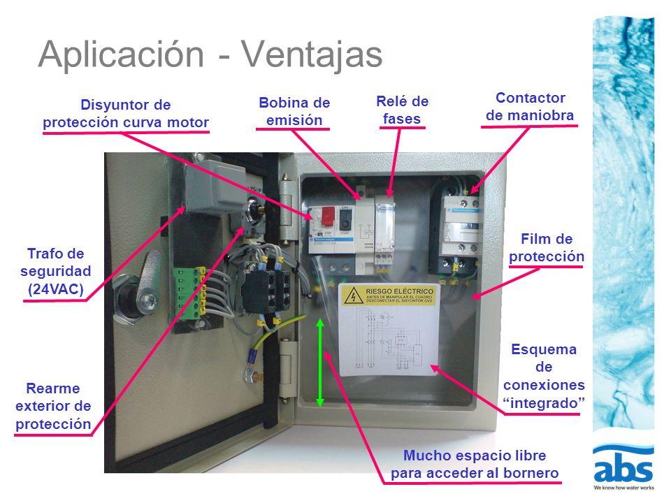 Aplicación - Ventajas Contactor de maniobra Relé de fases
