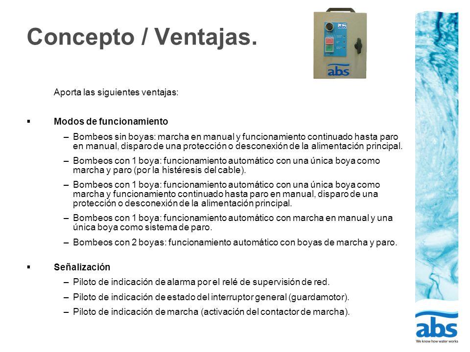 Concepto / Ventajas. Aporta las siguientes ventajas: