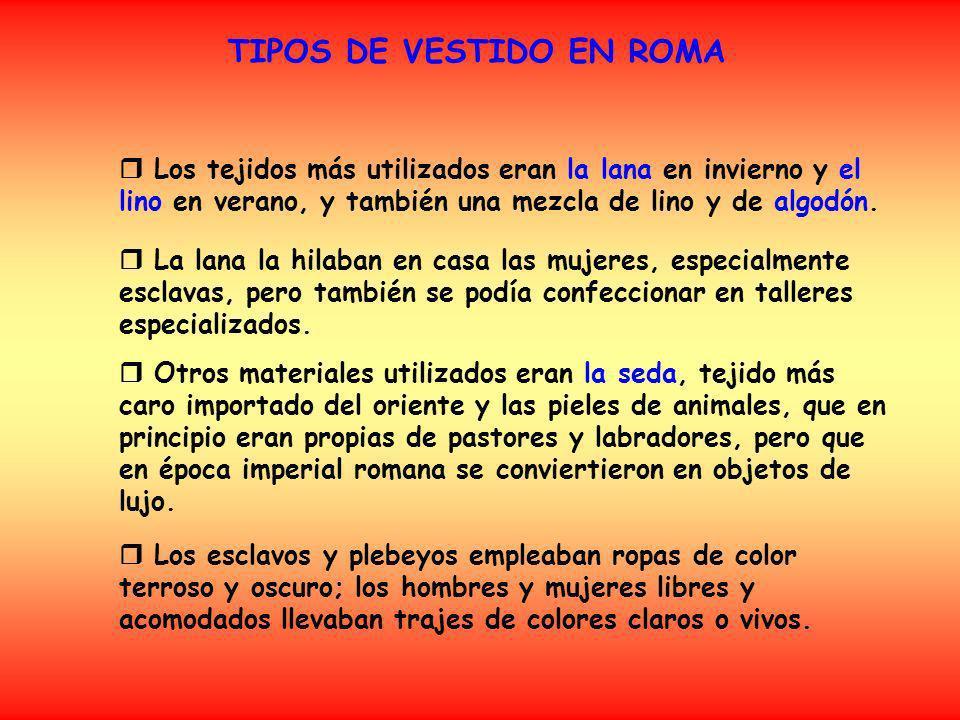 TIPOS DE VESTIDO EN ROMA