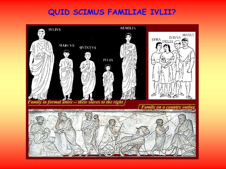 QUID SCIMUS FAMILIAE IVLII