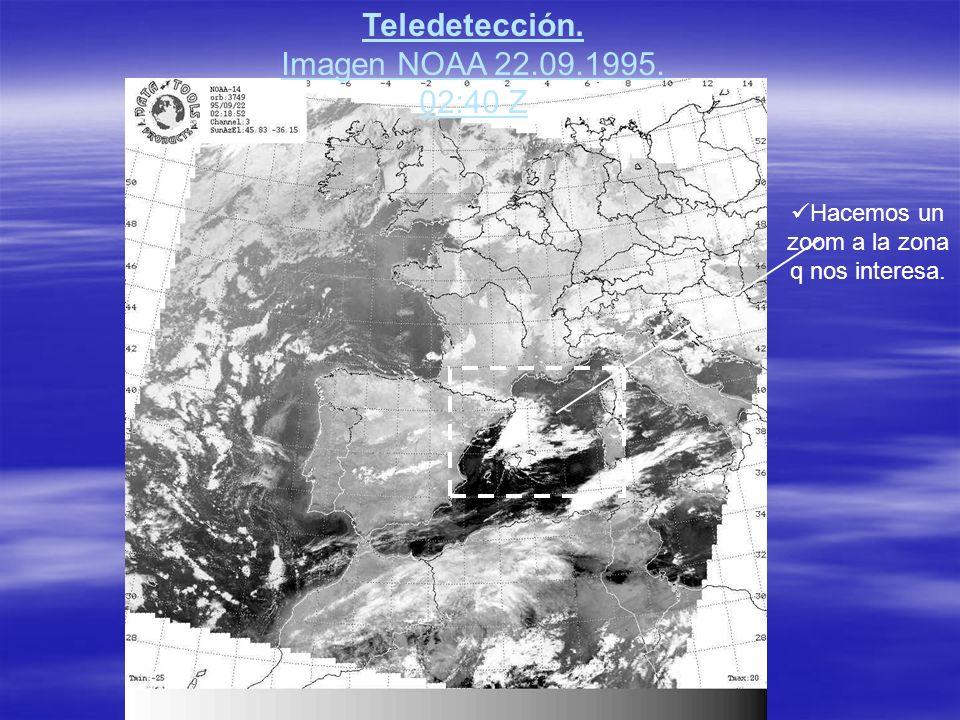 Teledetección. Imagen NOAA 22.09.1995. 02:40 Z