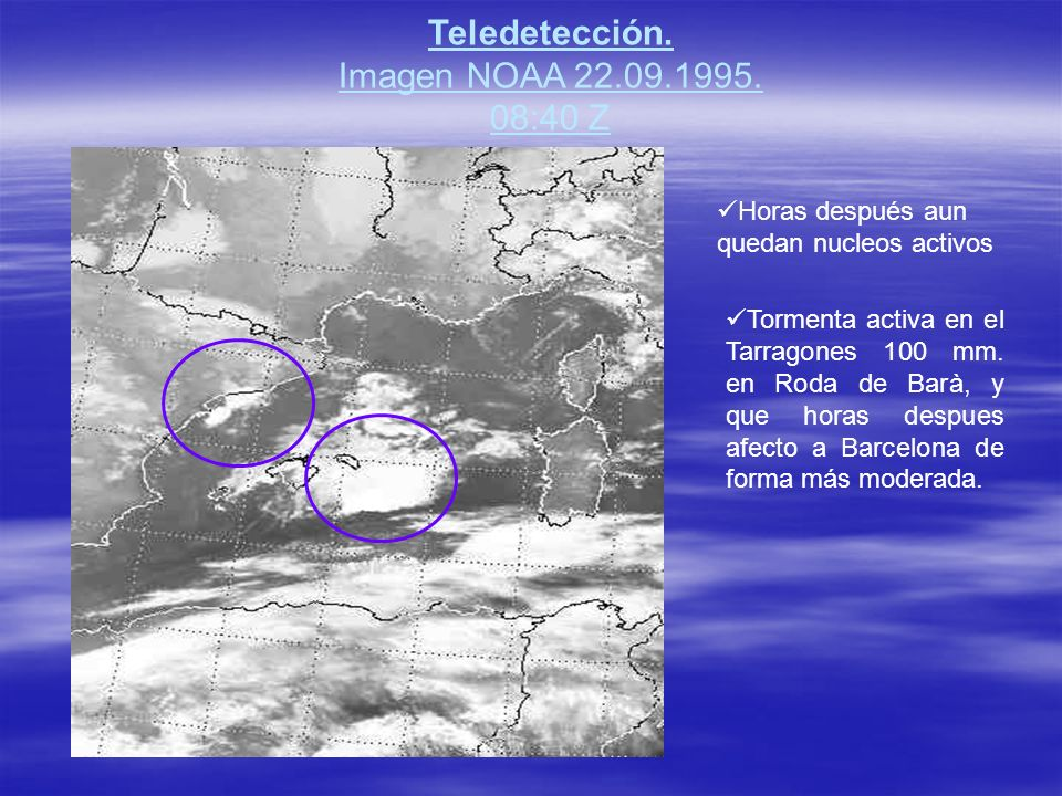 Teledetección. Imagen NOAA 22.09.1995. 08:40 Z