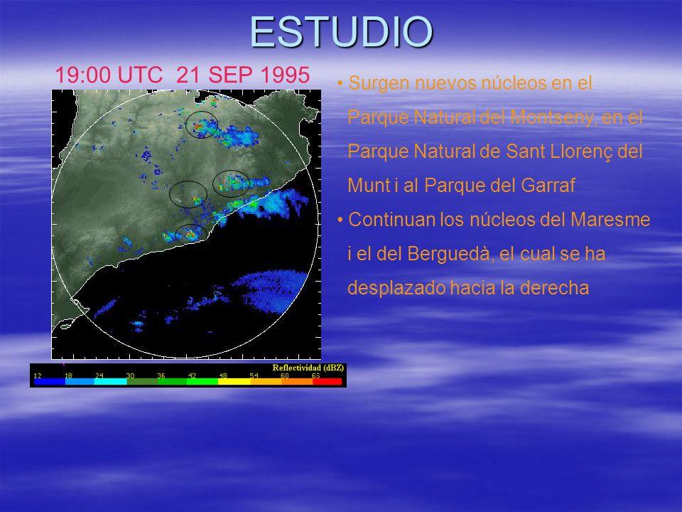 ESTUDIO 19:00 UTC 21 SEP 1995 Surgen nuevos núcleos en el