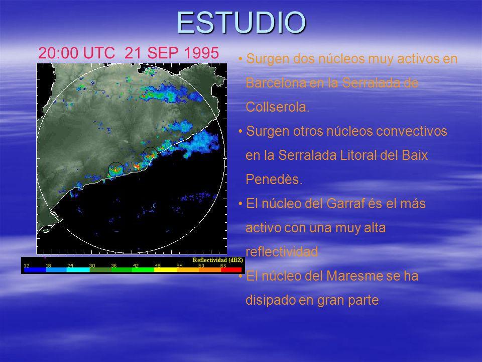 ESTUDIO 20:00 UTC 21 SEP 1995 Surgen dos núcleos muy activos en