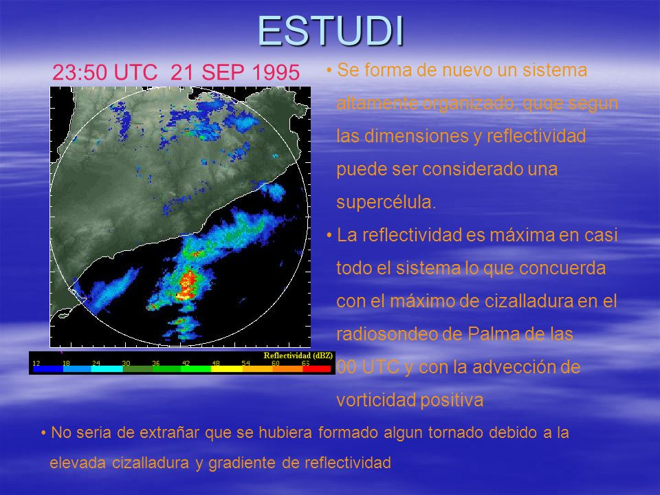 ESTUDI 23:50 UTC 21 SEP 1995 Se forma de nuevo un sistema