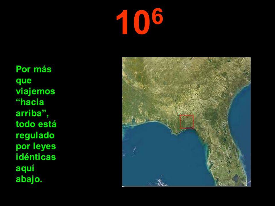 106 Por más que viajemos hacia arriba , todo está regulado por leyes idénticas aquí abajo.