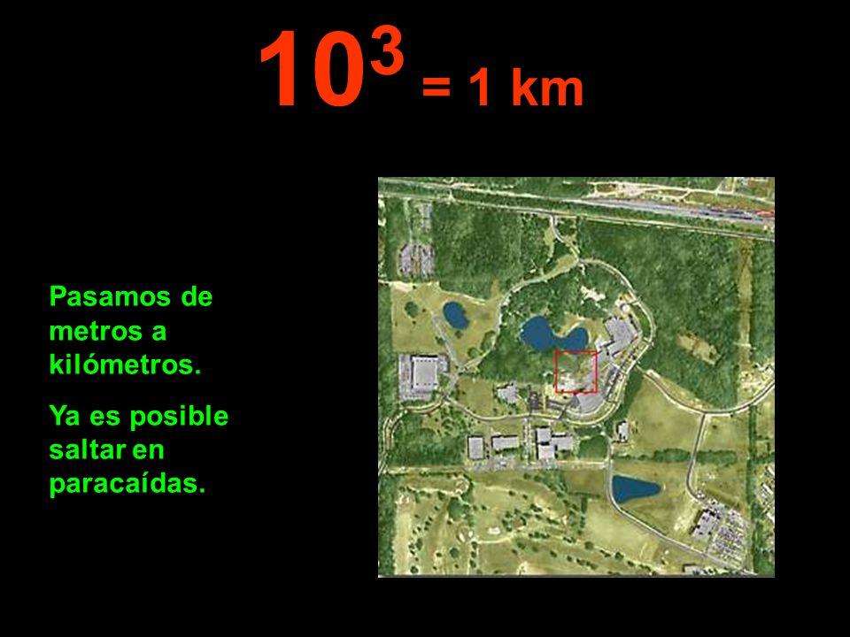 103 = 1 km Pasamos de metros a kilómetros.