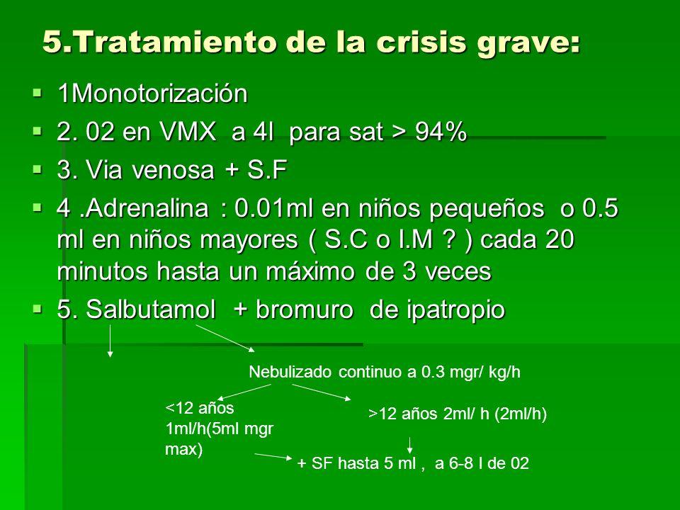 5.Tratamiento de la crisis grave: