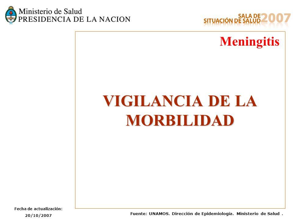 VIGILANCIA DE LA MORBILIDAD