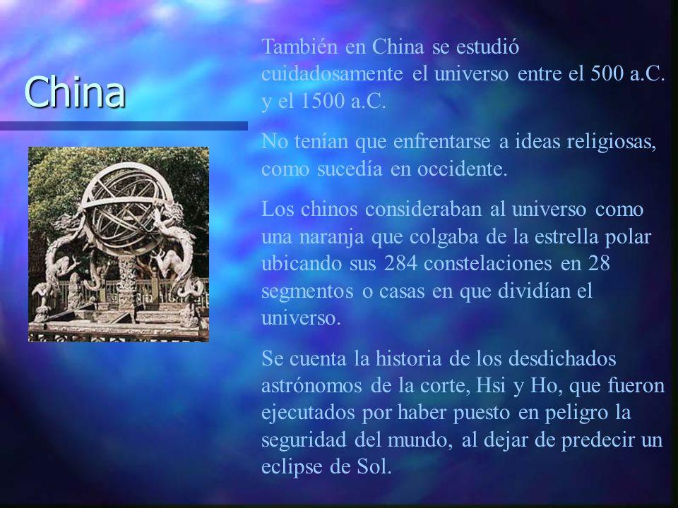 También en China se estudió cuidadosamente el universo entre el 500 a