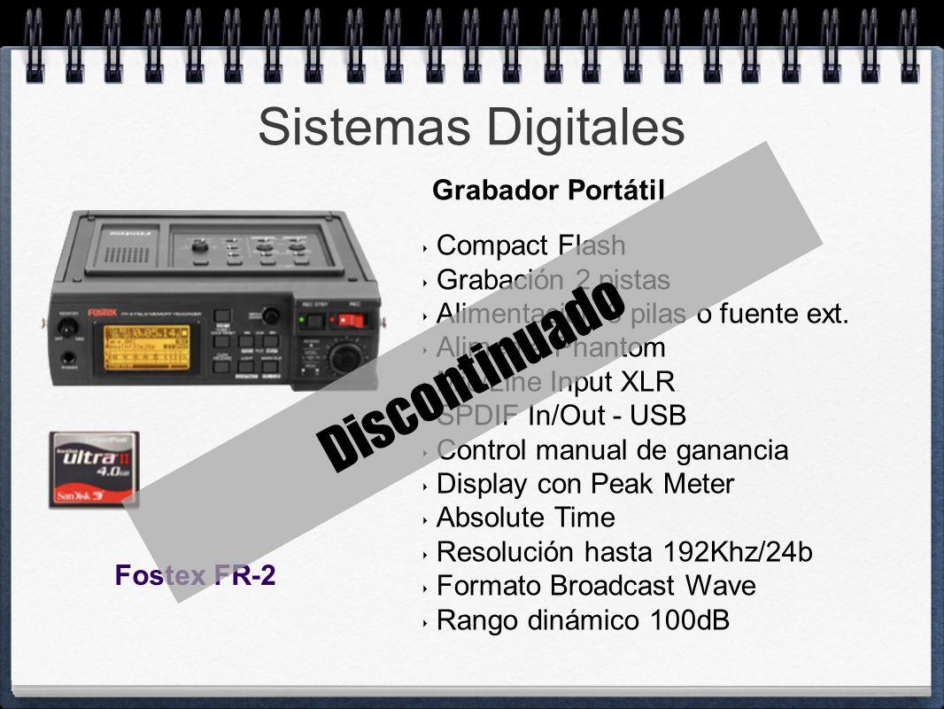 Discontinuado Sistemas Digitales Grabador Portátil Compact Flash