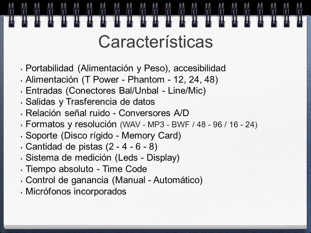 Características Portabilidad (Alimentación y Peso), accesibilidad