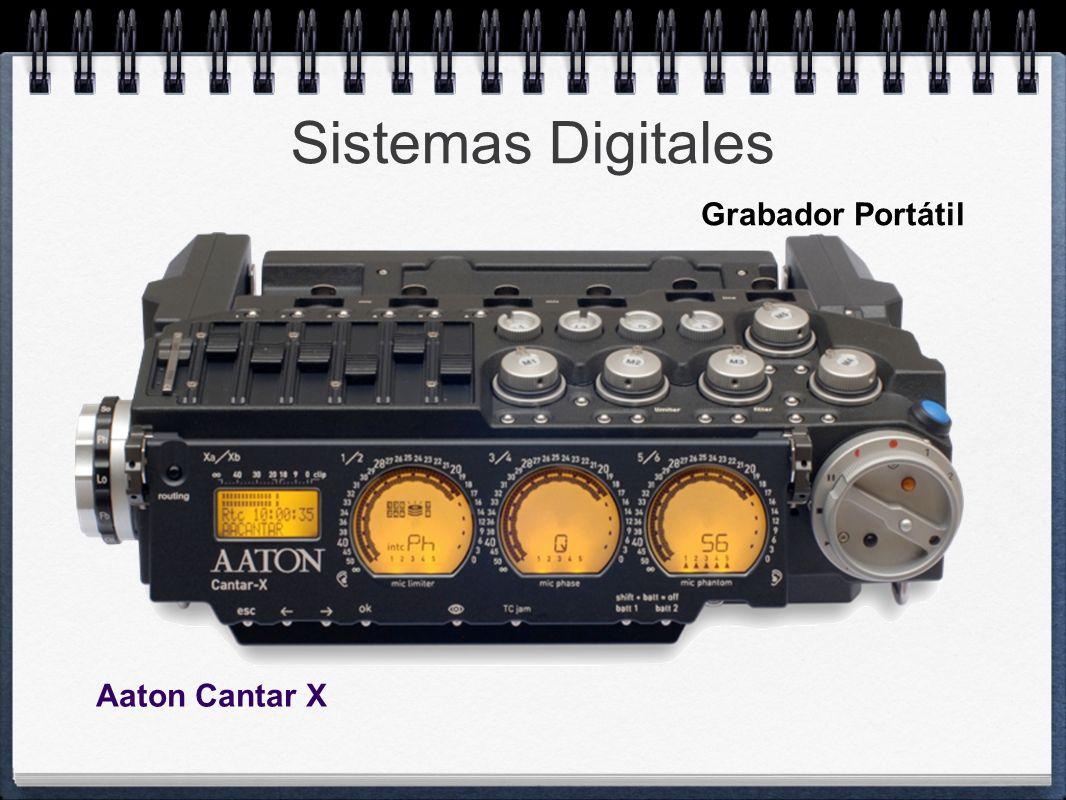 Sistemas Digitales Grabador Portátil Aaton Cantar X