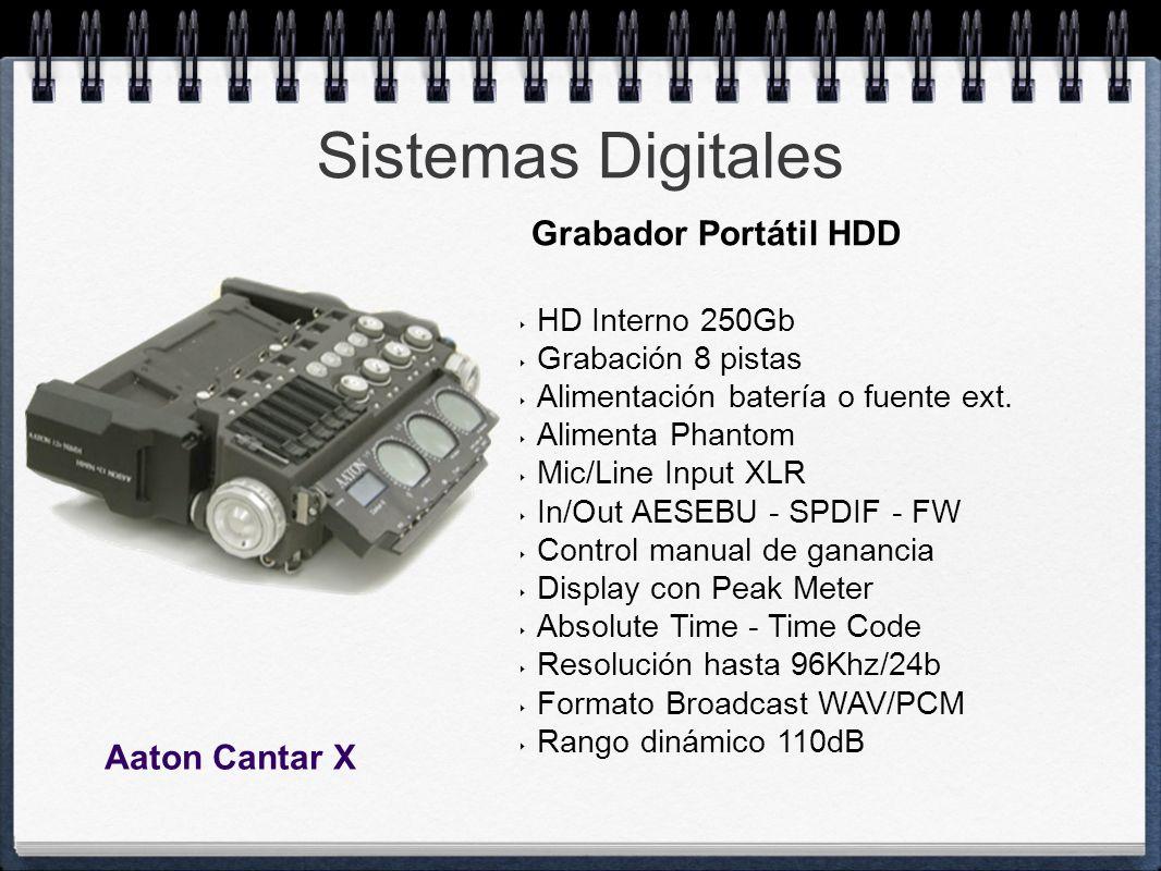 Sistemas Digitales Grabador Portátil HDD Aaton Cantar X