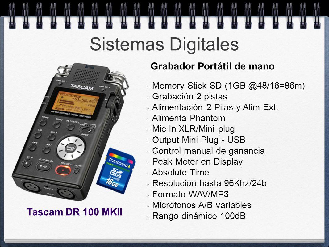 Sistemas Digitales Grabador Portátil de mano Tascam DR 100 MKII
