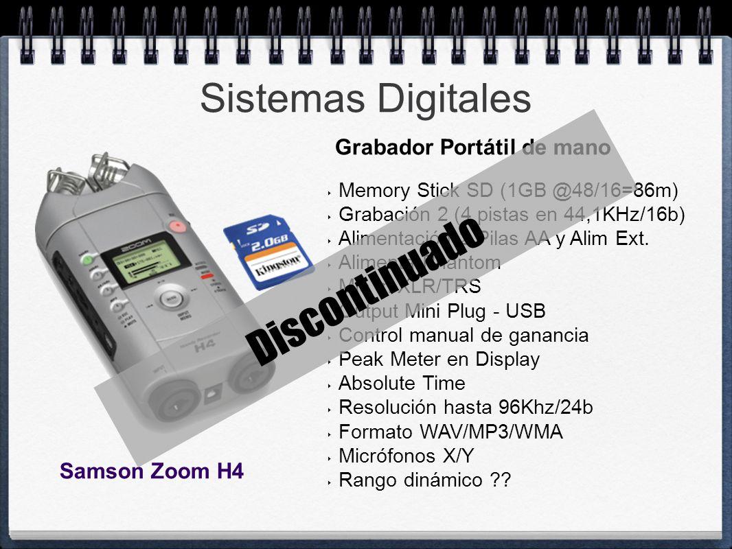 Discontinuado Sistemas Digitales Grabador Portátil de mano